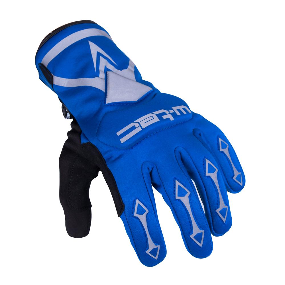 Cyklo a moto rukavice W-TEC Belter B-6044 modrá - L