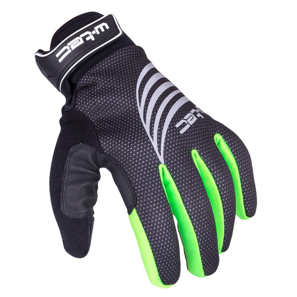 Sportovní zimní rukavice W-TEC Grutch AMC-1040-17 černo-zelená - S