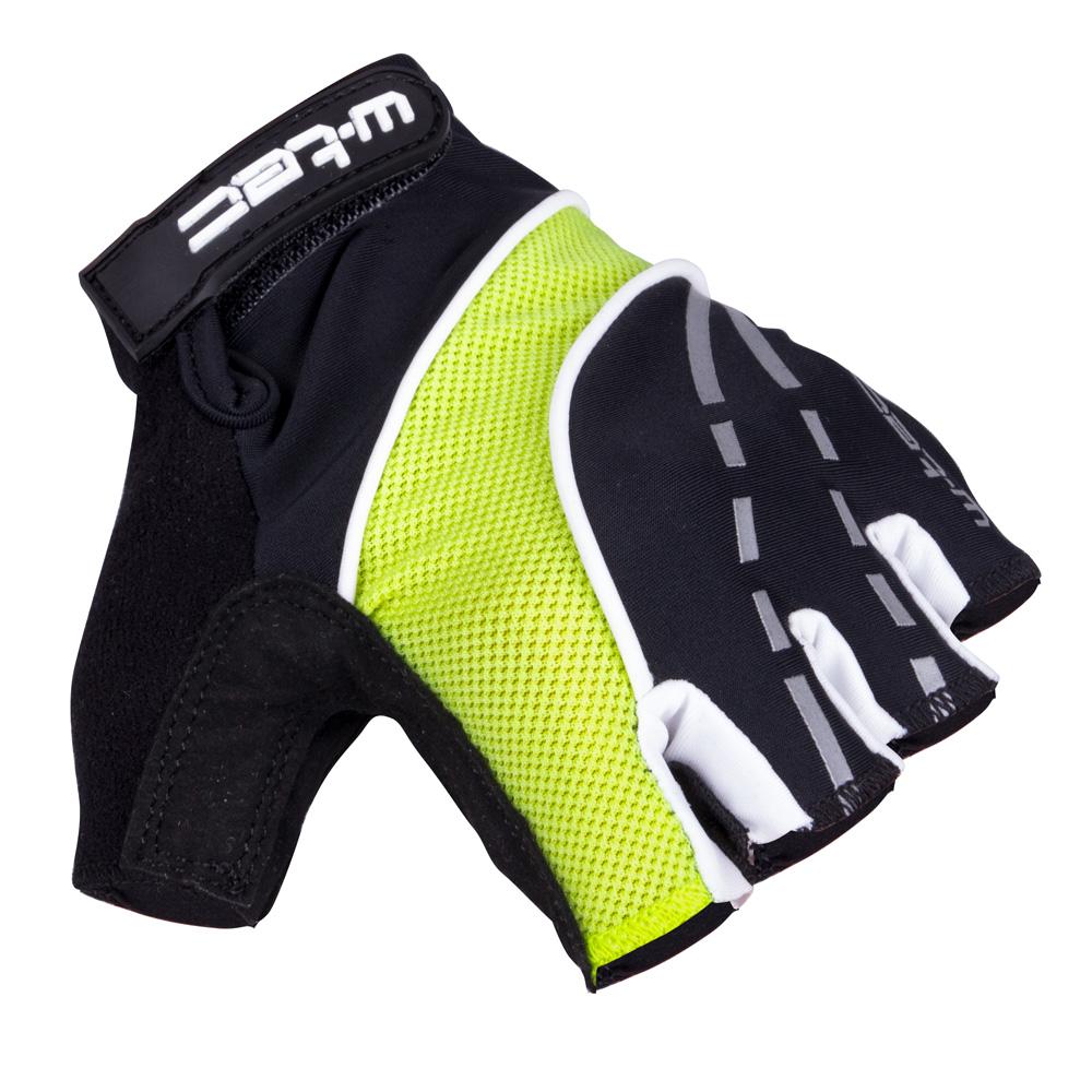Cyklo rukavice W-TEC Baujean AMC-1036-17 černo-žlutá - S