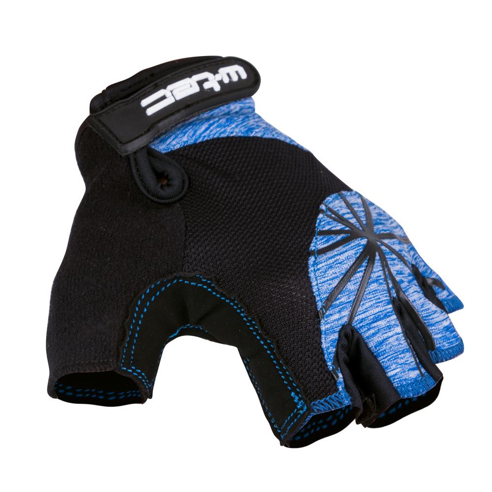 Dámské cyklo rukavice W-TEC Klarity AMC-1039-17 černo-modrá - XS