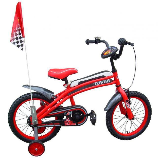 """Dětské kolo Turbo F1 16"""" červená"""