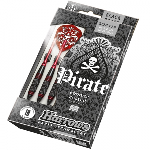 Harrows Pirate Soft 18g K Red 3ks