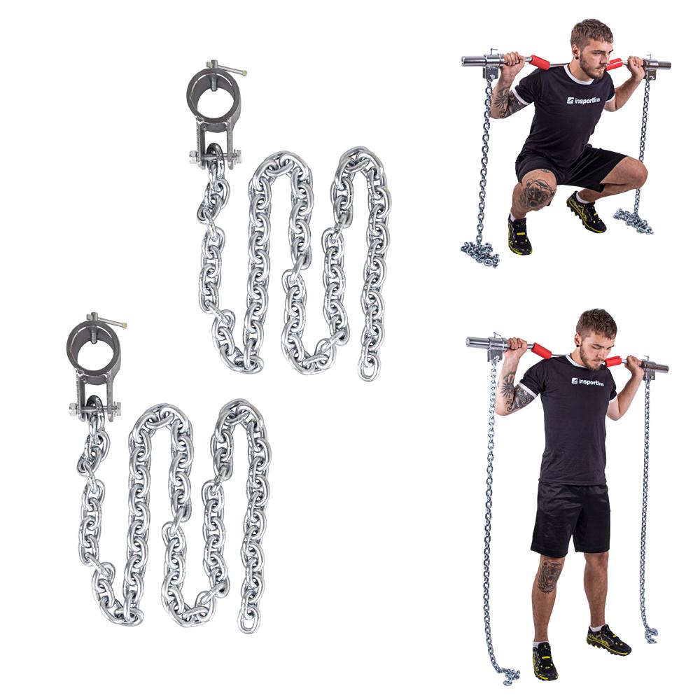Vzpěračské řetězy inSPORTline Chainbos 2x5 kg