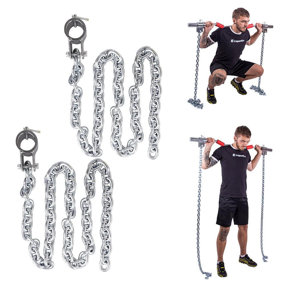 Vzpěračské řetězy inSPORTline Chainbos 2x10 kg