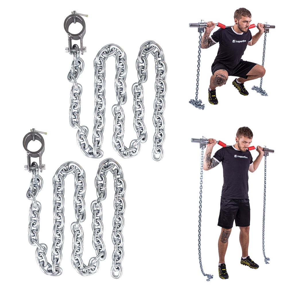 Vzpěračské řetězy inSPORTline Chainbos 2x15 kg