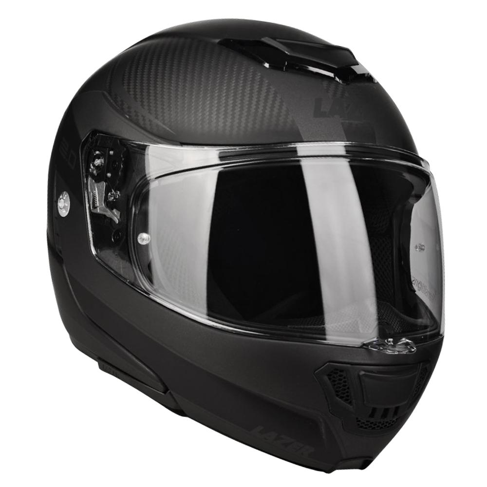 Moto přilba Lazer Monaco Evo 2.0 Black Carbon-Matt - XXL (63-64) - Záruka 5 let