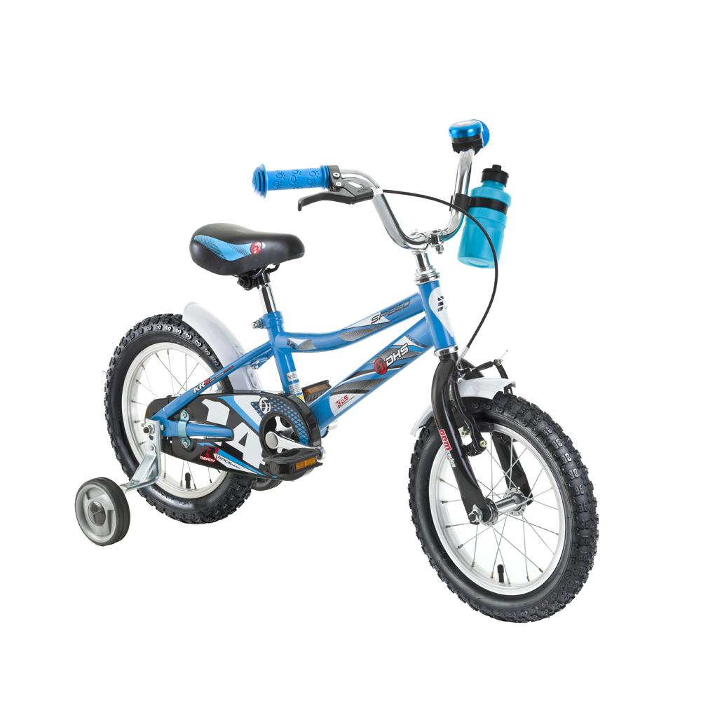 """Dětské kolo DHS Speed 1401 14"""" - model 2016 Blue"""