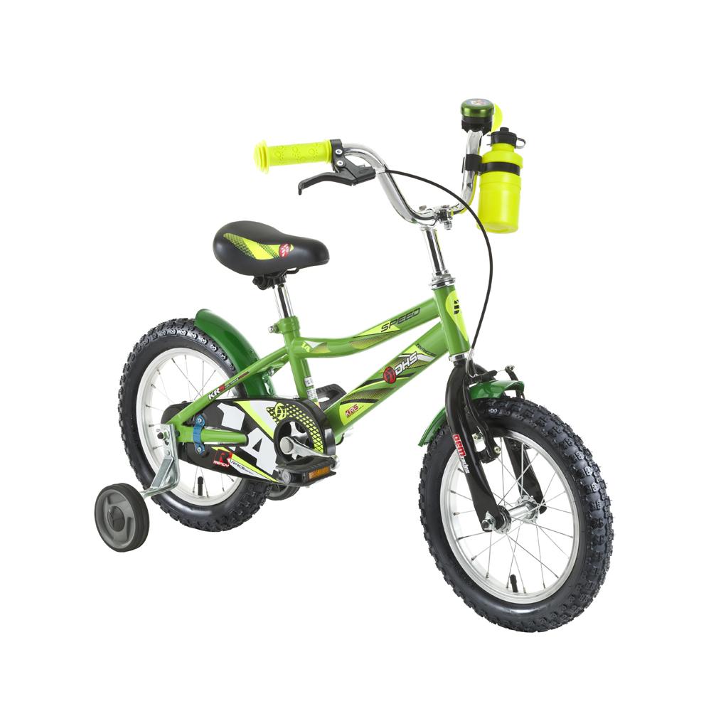 "Dětské kolo DHS Speed 1401 14"" - model 2016 Green"