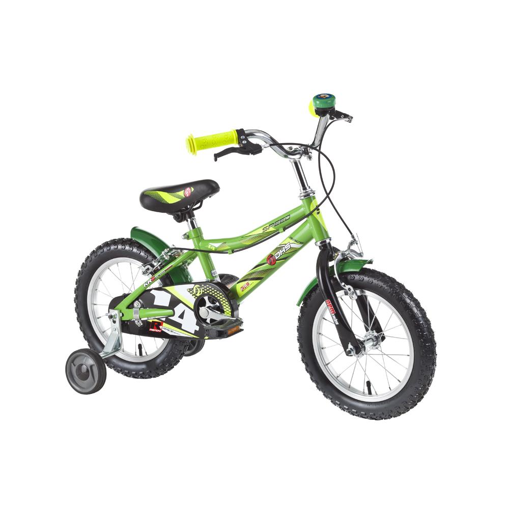 "Dětské kolo DHS Speed 1403 14"" - model 2016 Green"