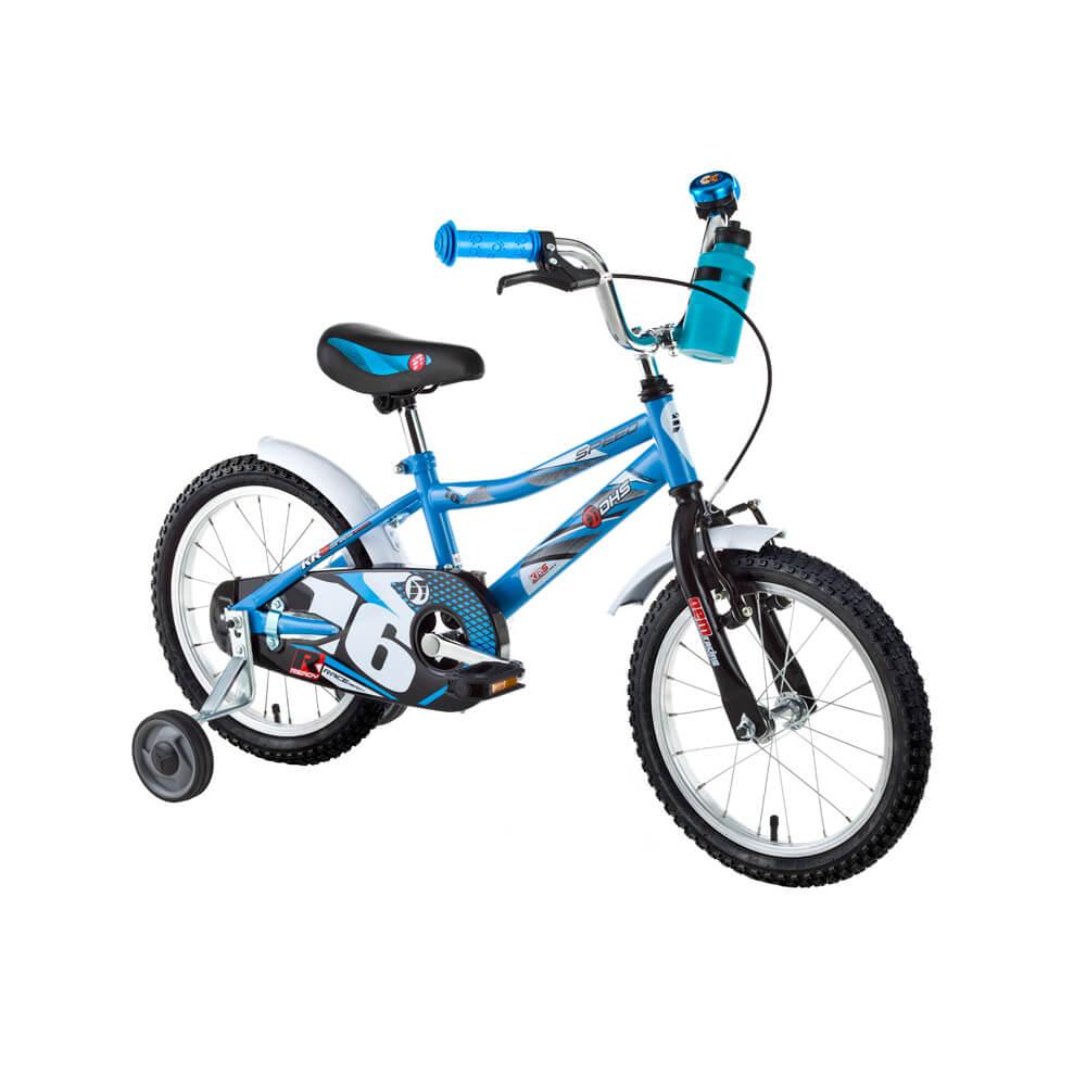 """Dětské kolo DHS Speed 1601 16"""" - model 2017 Blue"""