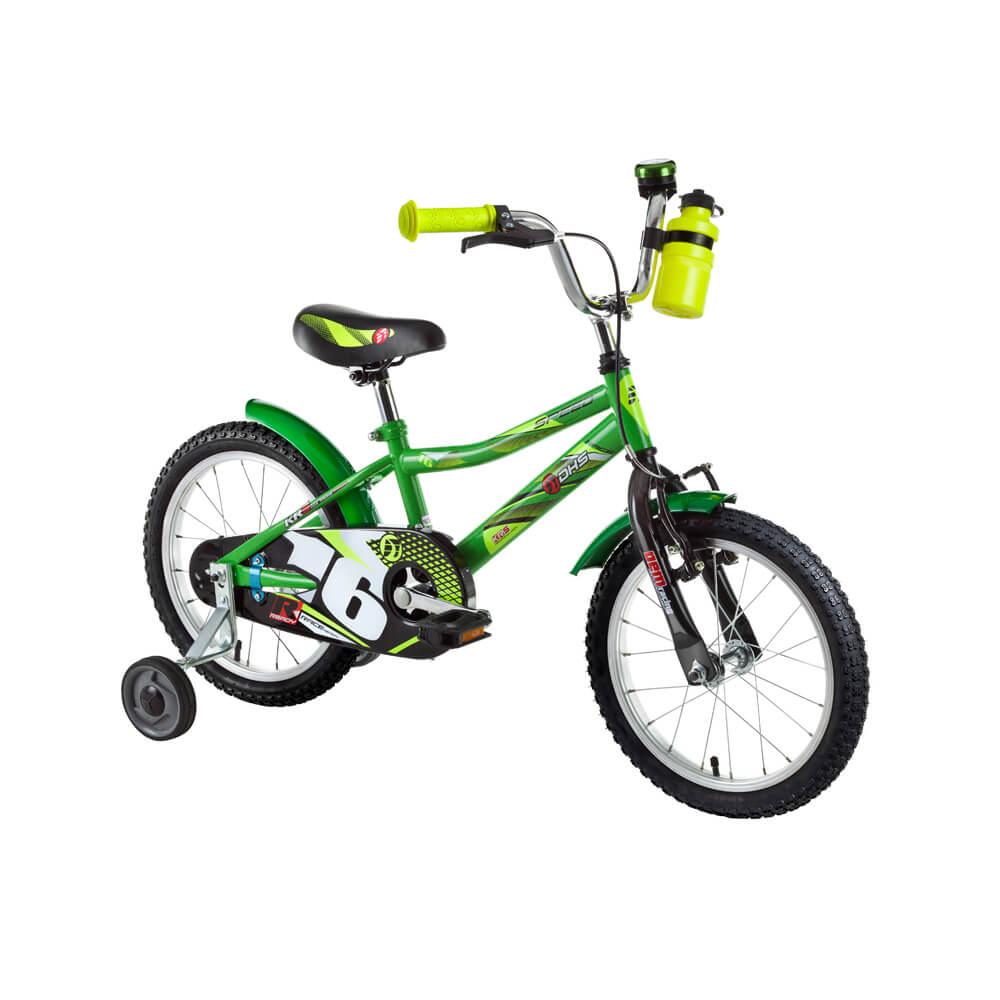 "Dětské kolo DHS Speed 1601 16"" - model 2016 Green"