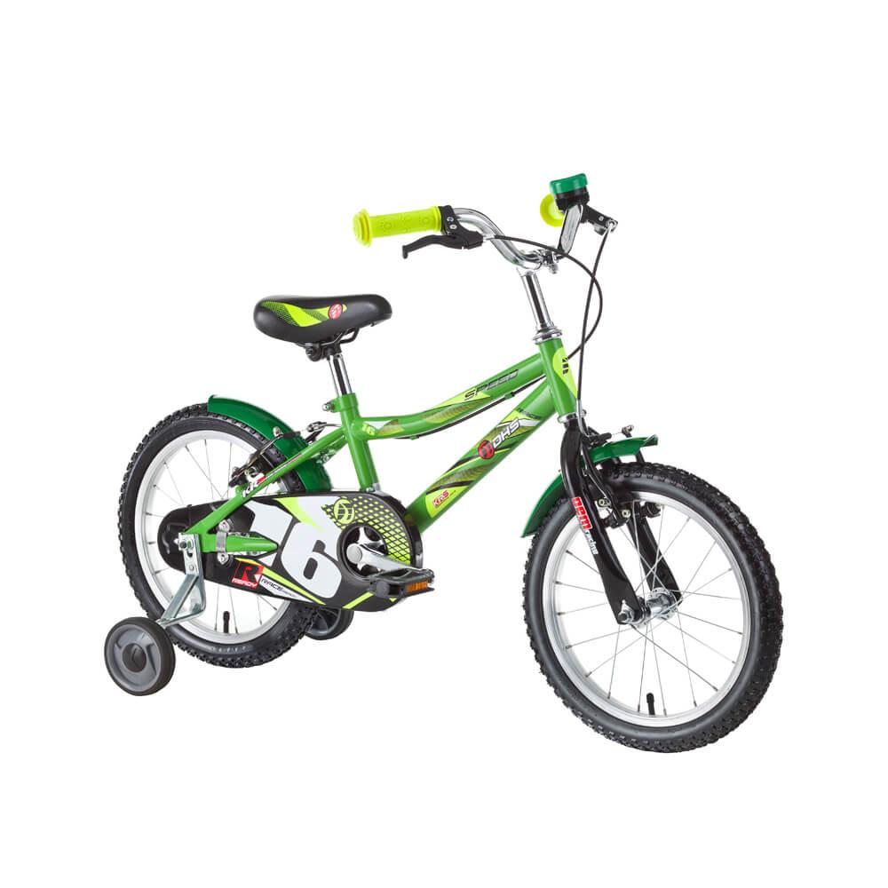 """Dětské kolo DHS Speed 1603 16"""" - model 2016 Green - Záruka 10 let"""