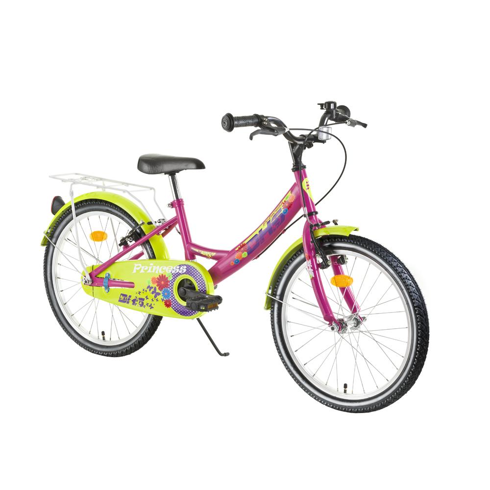 """Dětské kolo DHS Princess 2004 20"""" - model 2017 Pink - Záruka 10 let"""