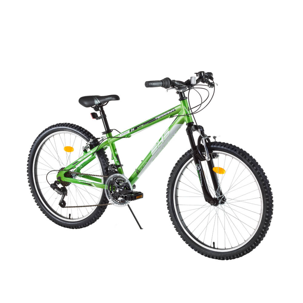 "Juniorské horské kolo DHS Terrana 2423 24"" - model 2016 Green"