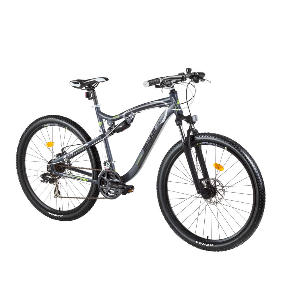 "Celoodpružené kolo DHS Terrana 2745 27,5"" - model 2017 Gray-Black-Green - 17,5"" - Záruka 10 let"