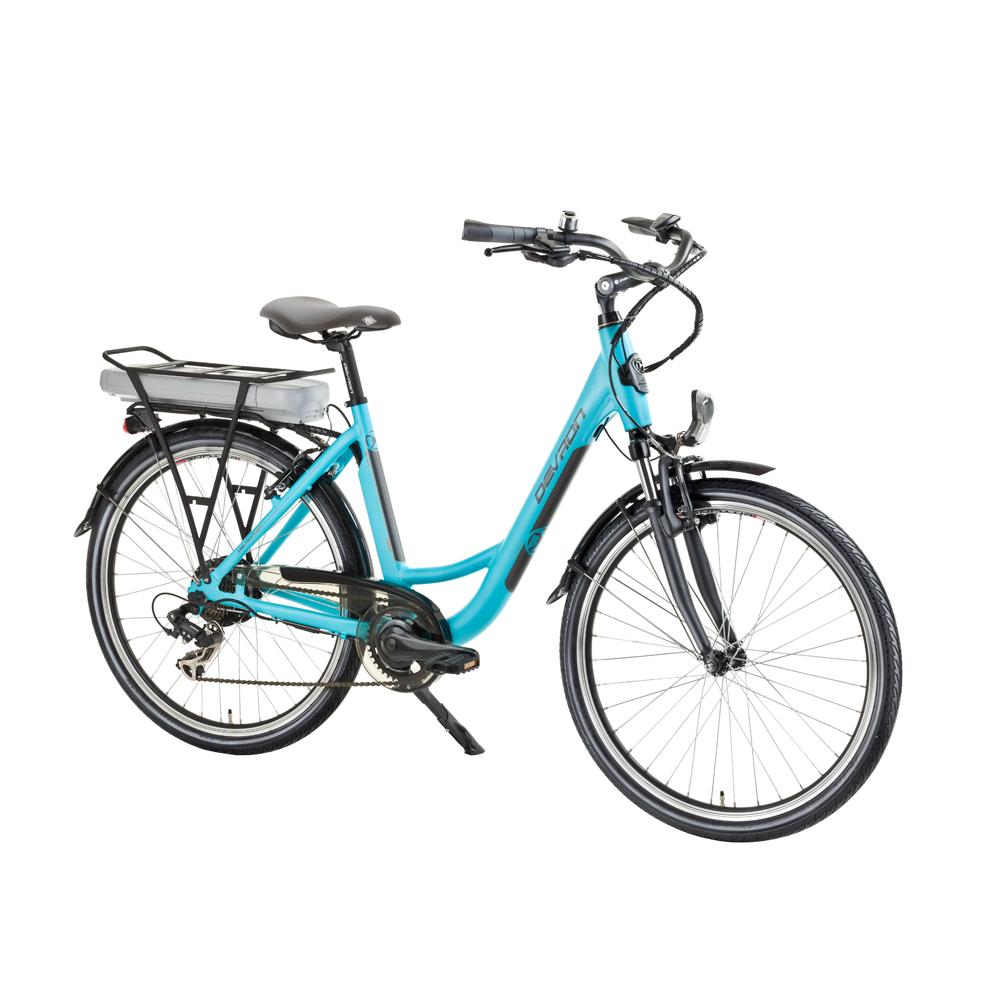 """Městské elektrokolo inSPORTline Devron 26122 - model 2016 Baby Blue - 18"""" - Záruka 10 let"""