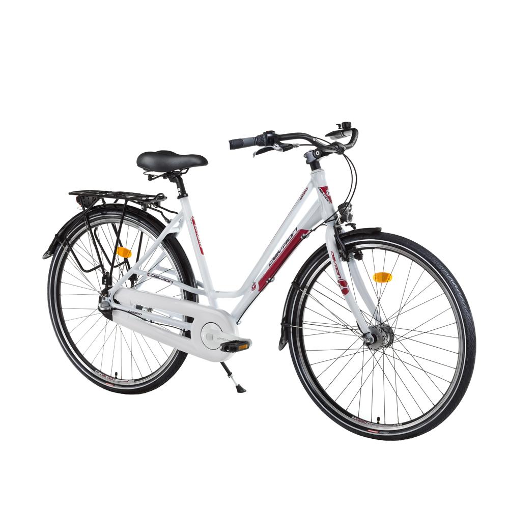 "Městské kolo Devron Urbio LC1.8 - model 2016 Crimson White - 19"" - Záruka 10 let"