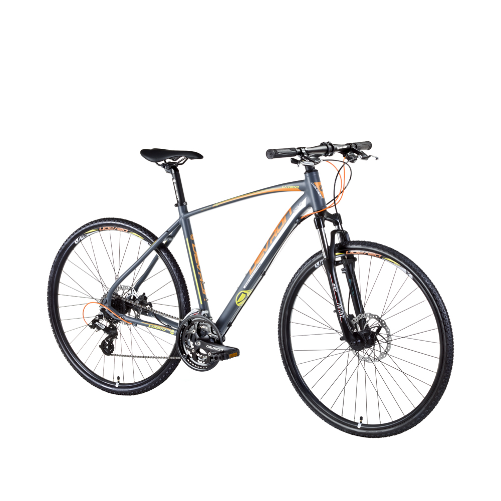"Crossové kolo Devron Urbio K2.8 - model 2016 Cool Gray - 19"" - Záruka 10 let"