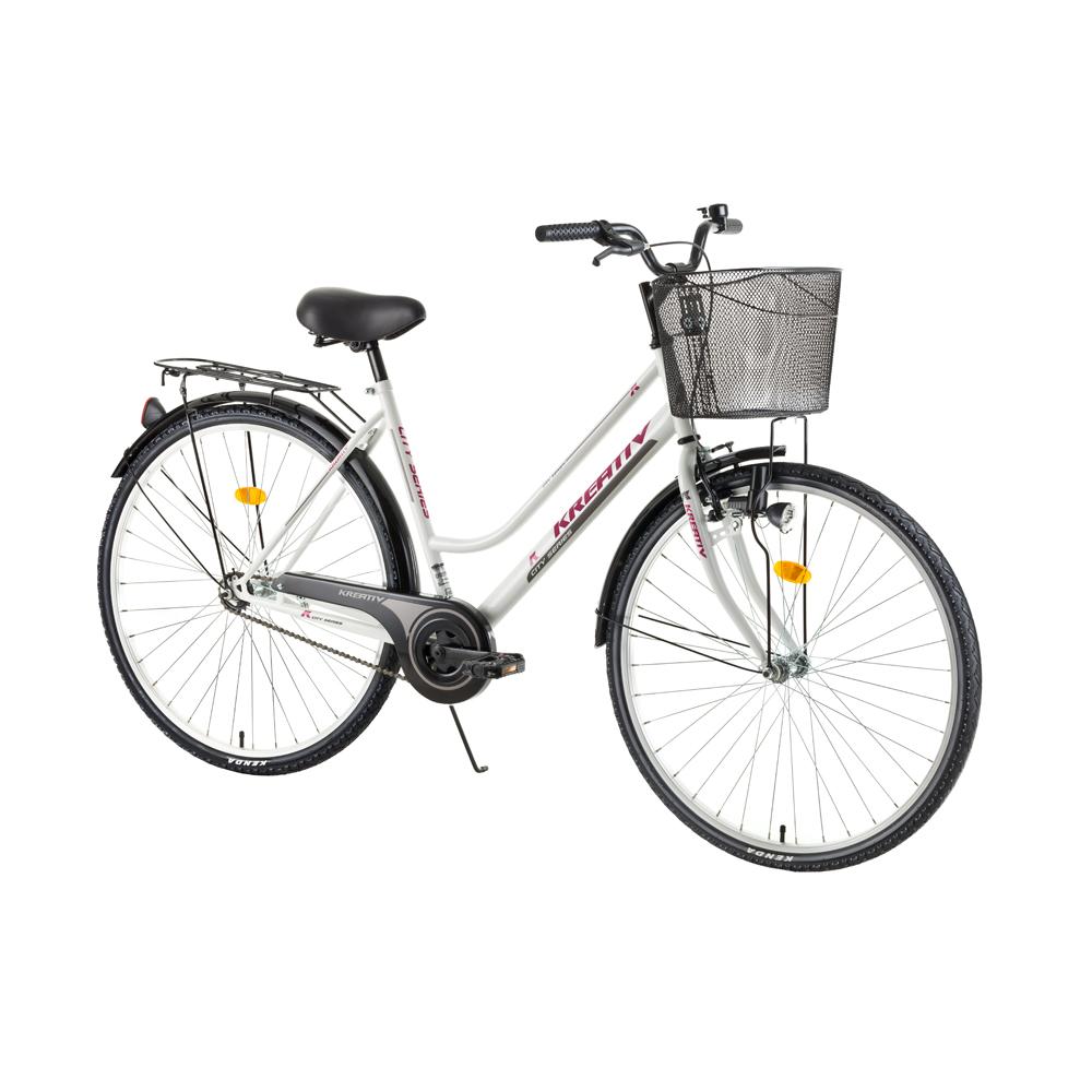 Dámské trekingové kolo Kreativ Comfort 2812 - model 2017 White - Záruka 10 let