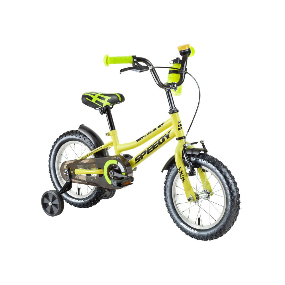 """Dětské kolo DHS Speedy 1401 14"""" - model 2018 Yellow - Záruka 10 let"""