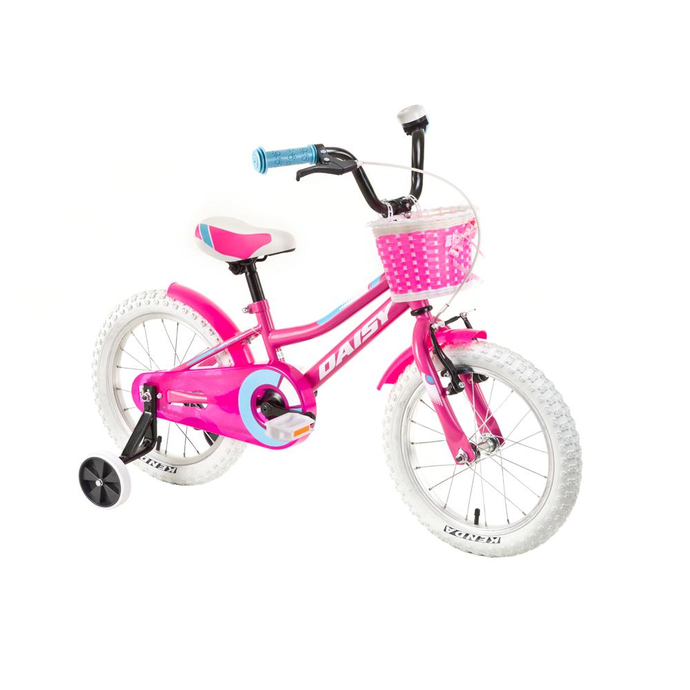 """Dětské kolo DHS Daisy 1602 16"""" - model 2018 Pink - Záruka 10 let"""