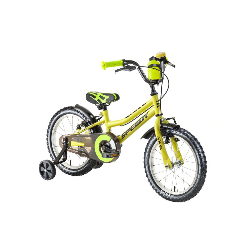 """Dětské kolo DHS Speedy 1603 16"""" - model 2018 Yellow - Záruka 10 let"""