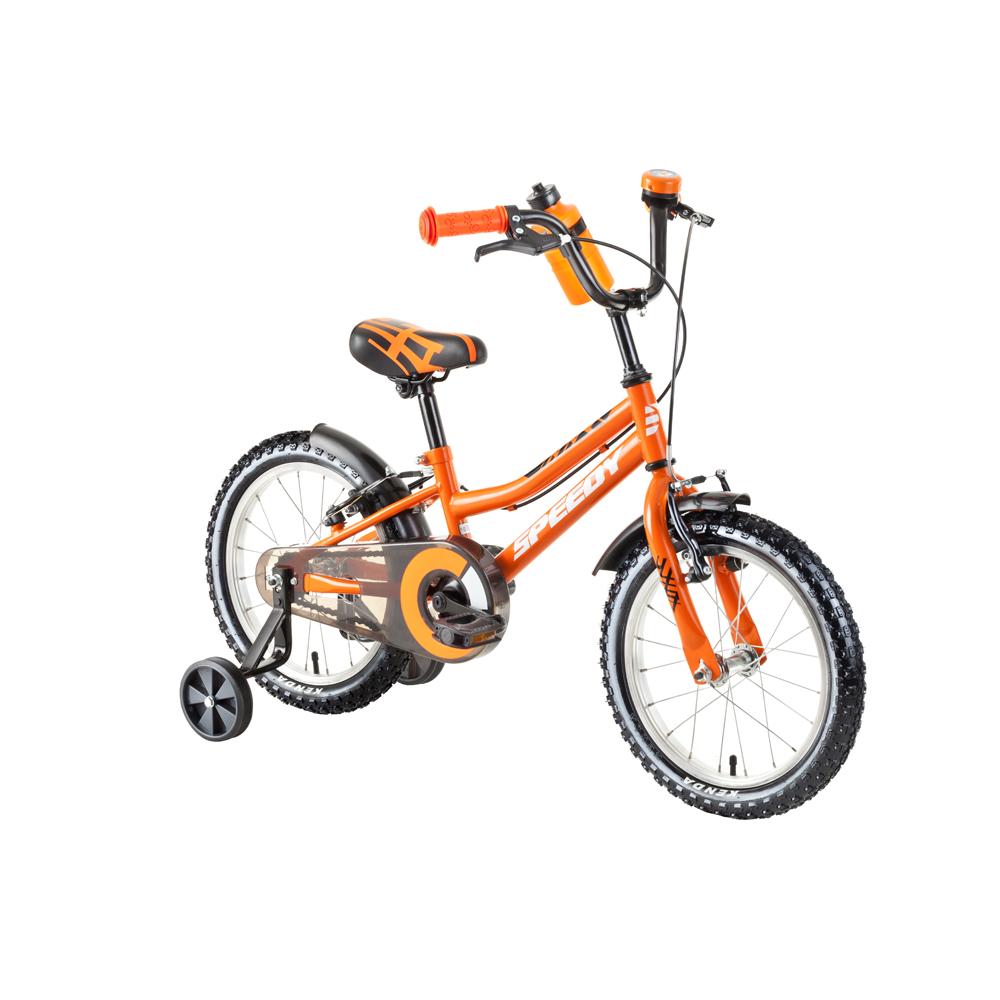 """Dětské kolo DHS Speedy 1603 16"""" - model 2018 Orange - Záruka 10 let"""