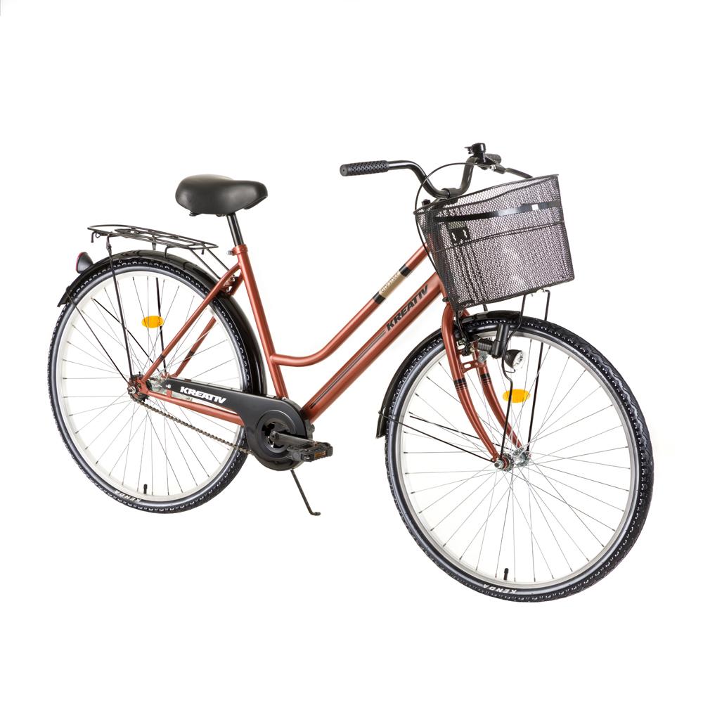"""Dámské trekingové kolo Kreativ Comfort 2812 28"""" - model 2018 Brown - Záruka 10 let"""