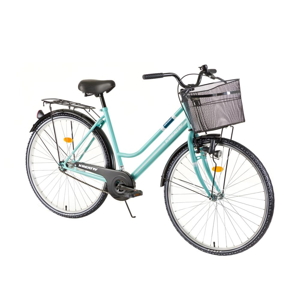 "Dámské trekingové kolo Kreativ Comfort 2812 28"" - model 2018 Turquoise - Záruka 10 let"