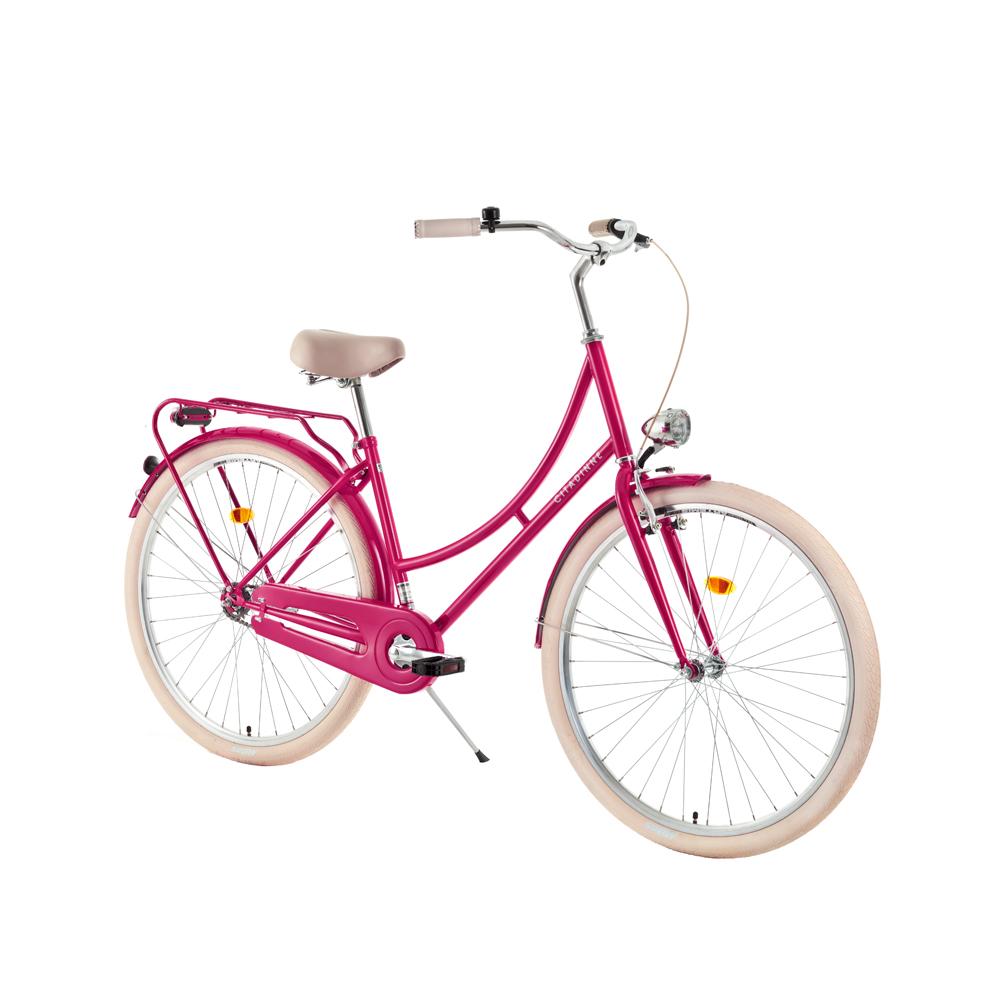 """Městské kolo DHS Citadinne 2632 26'' - model 2018 Dark Pink - 18"""" - Záruka 10 let"""