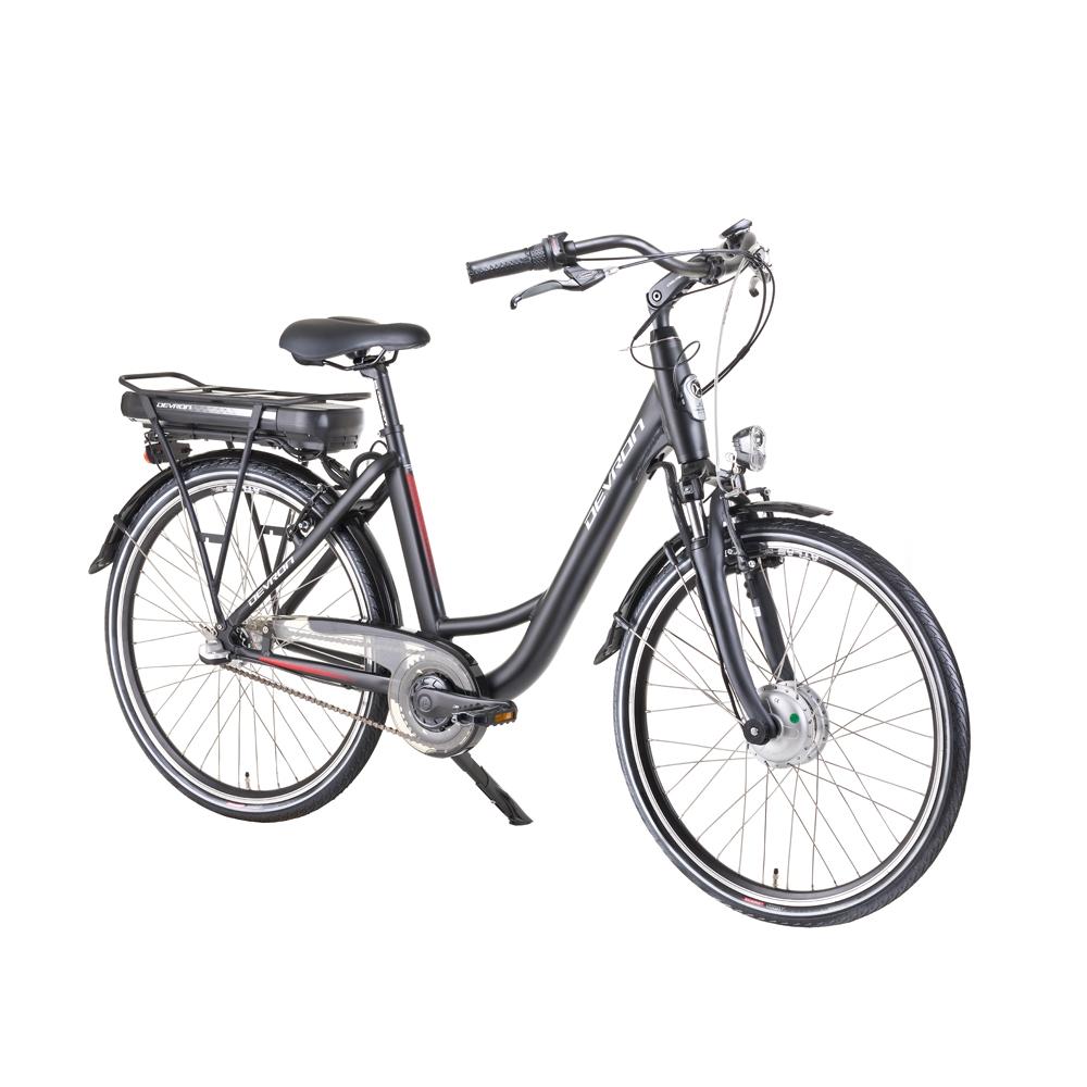 "Městské elektrokolo Devron 26120 26"" - model 2018 Black Matt - 18"" - Záruka 10 let"