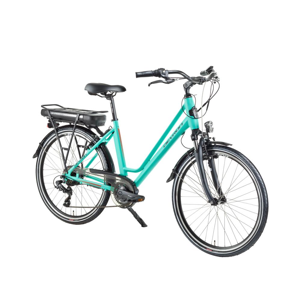 """Městské elektrokolo Devron 26122 - model 2018 Light Blue - 18"""" - Záruka 10 let"""