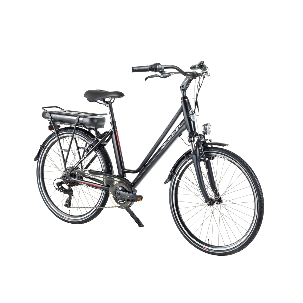 "Městské elektrokolo Devron 26122 - model 2018 Black Matt - 18"" - Záruka 10 let"