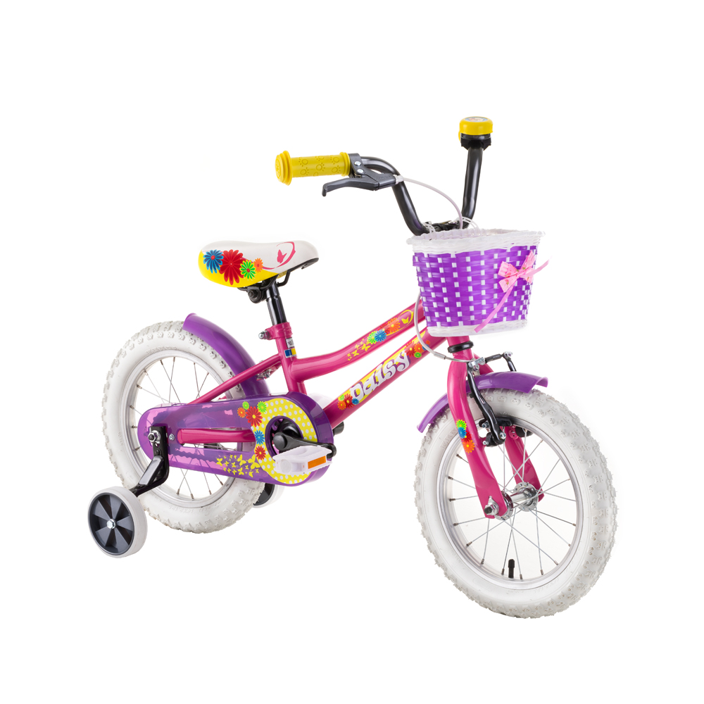 """Dětské kolo DHS Daisy 1402 14"""" - model 2019 Pink - Záruka 10 let"""