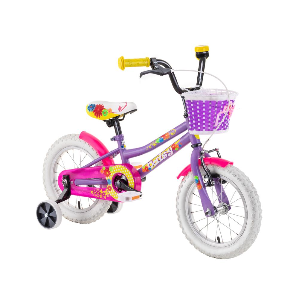 """Dětské kolo DHS Daisy 1402 14"""" - model 2019 Purple - Záruka 10 let"""