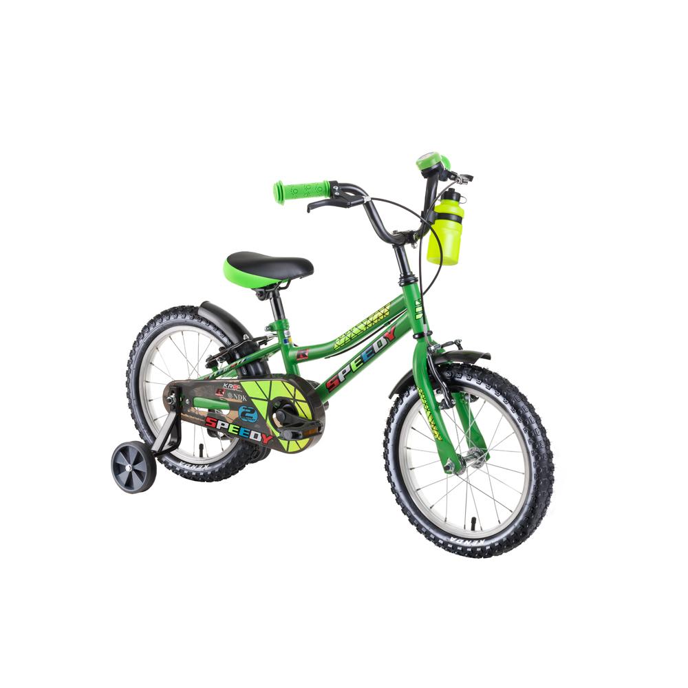 """Dětské kolo DHS Speedy 1603 16"""" - model 2019 Green - Záruka 10 let"""