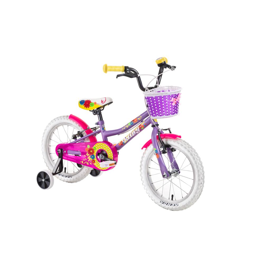 """Dětské kolo DHS Daisy 1604 16"""" - model 2019 Purple - Záruka 10 let"""