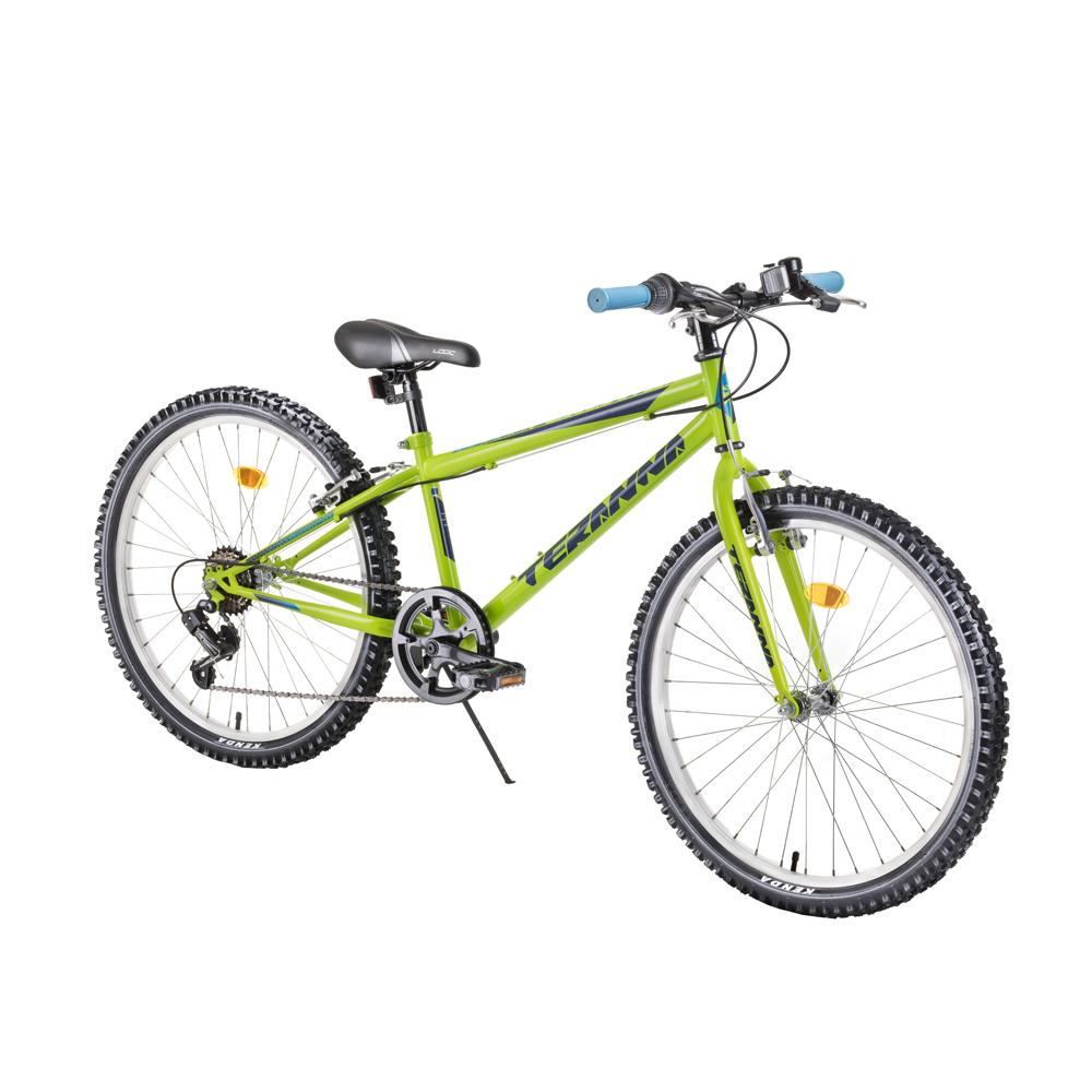 "Juniorské kolo DHS Teranna 2421 24"" - model 2019 Green - Záruka 10 let"