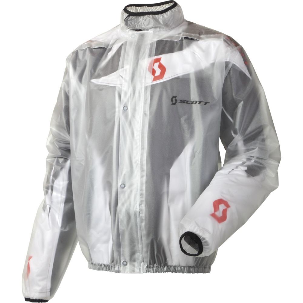 Moto pláštěnka Scott Rain Coat čirá - S (42-44)
