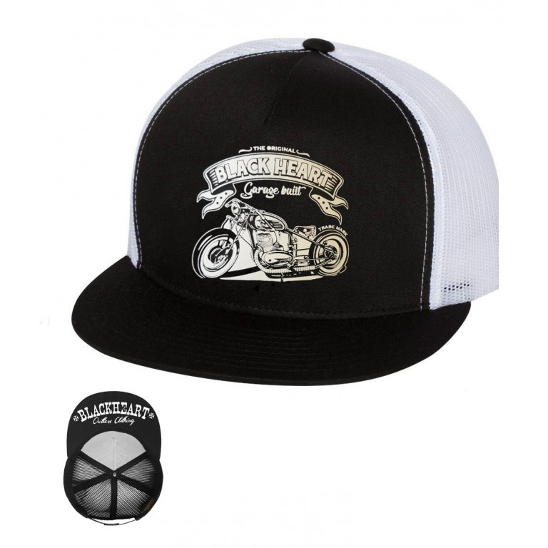 BLACK HEART Bobber Trucker bílá