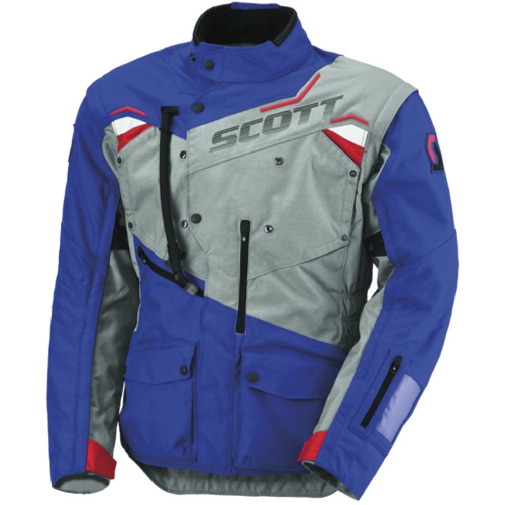 Moto bunda Scott Dualraid TP šedo-modrá - M (46-48)