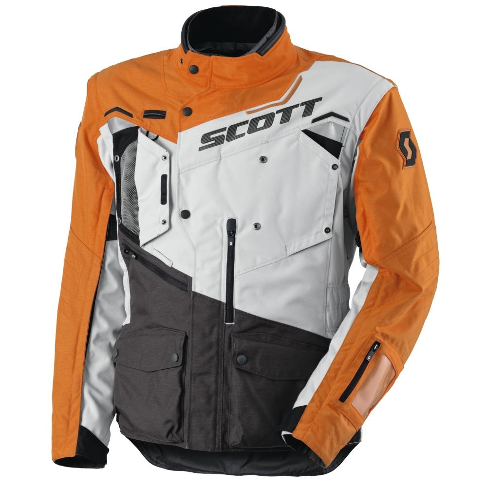 Moto bunda Scott Dualraid TP šedo-oranžová - M (46-48)