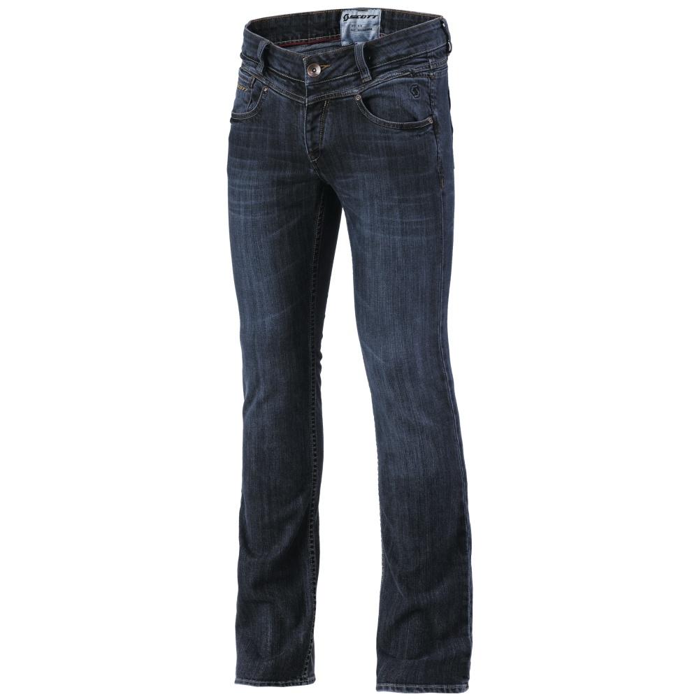 Dámské jeansové moto kalhoty SCOTT W's Denim XVI tmavě modrá - XXXL (44)
