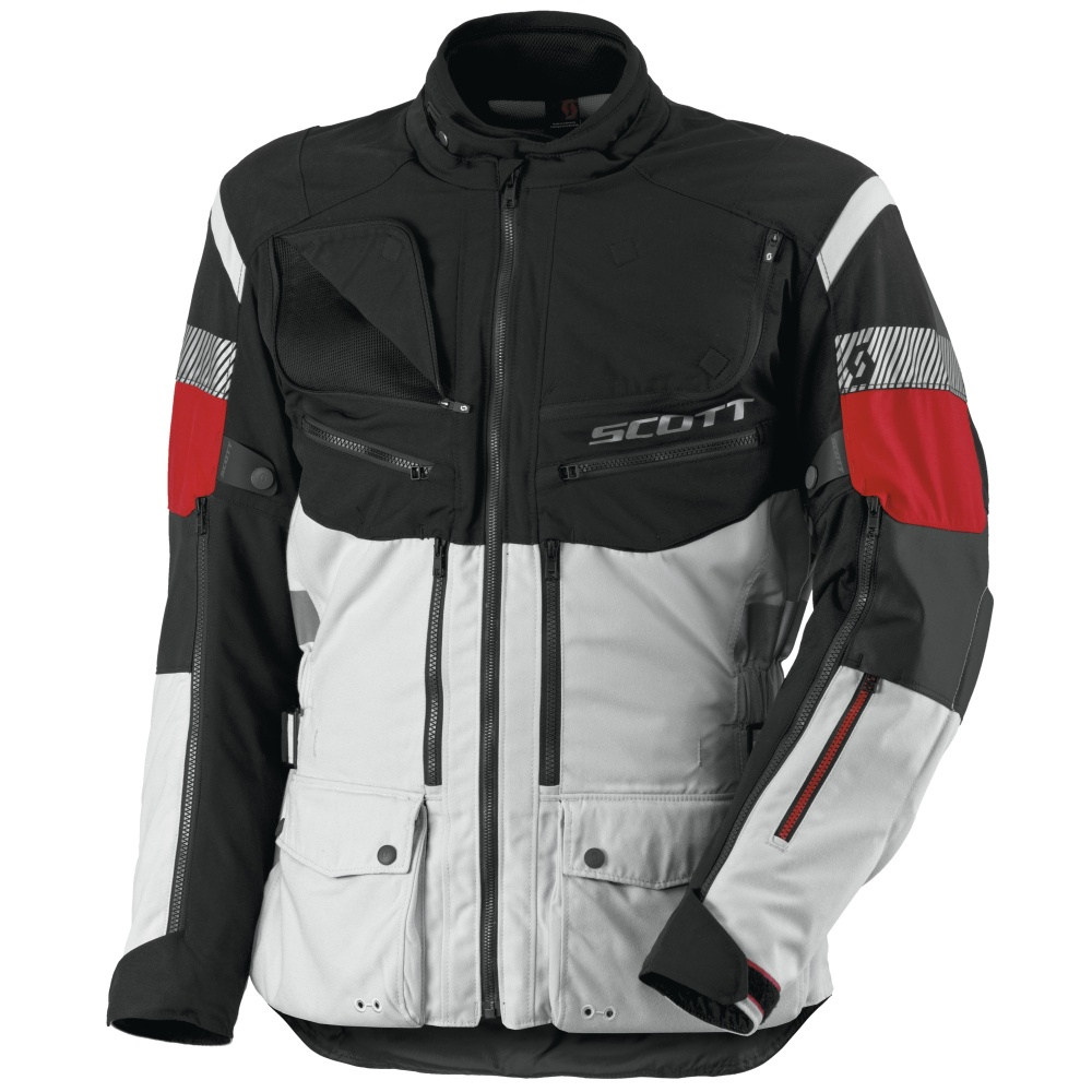 Moto bunda Scott All Terrain PRO DP šedo-červená - L (50-52)
