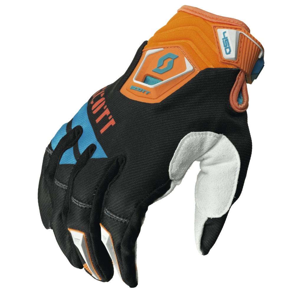 Motokrosové rukavice Scott 450 Race MXV černo-oranžová - L