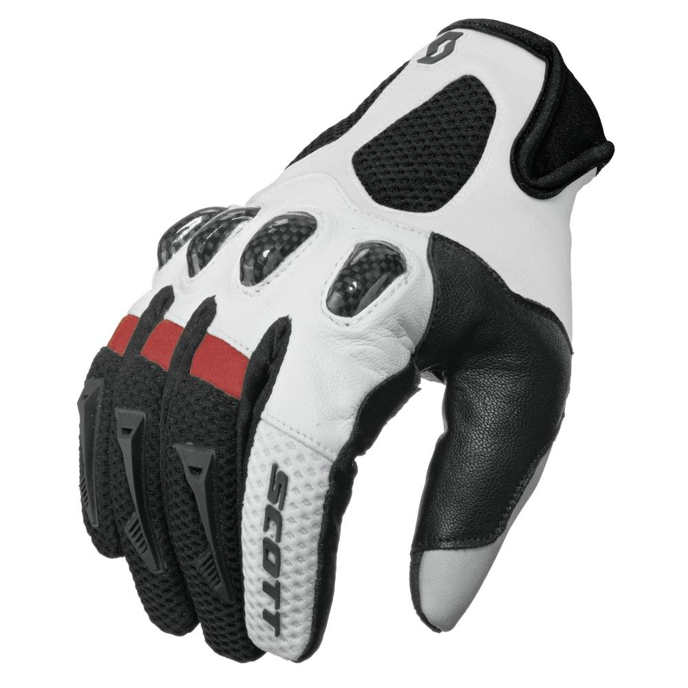 Motokrosové rukavice SCOTT Assault černo-červená - M