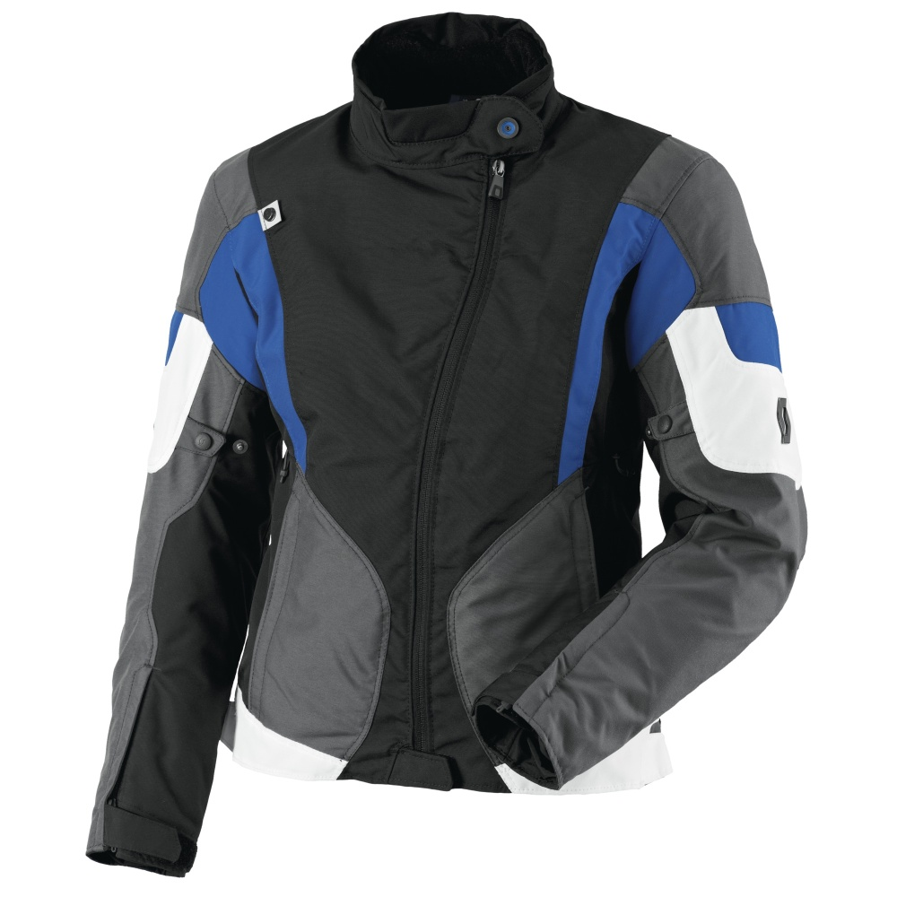Dámská moto bunda Scott Technit DP černo-modrá - XXXL (44)