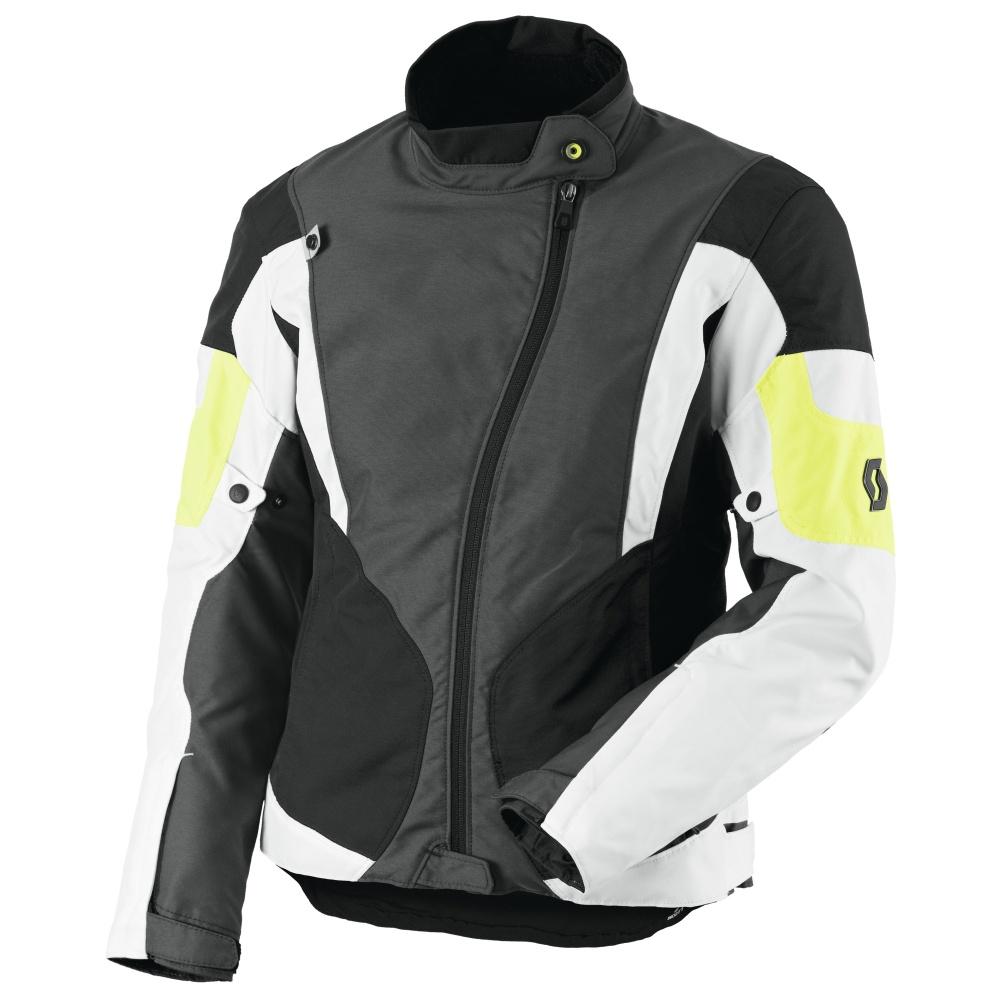 Dámská moto bunda SCOTT Technit DP šedo-žlutá - M (36)