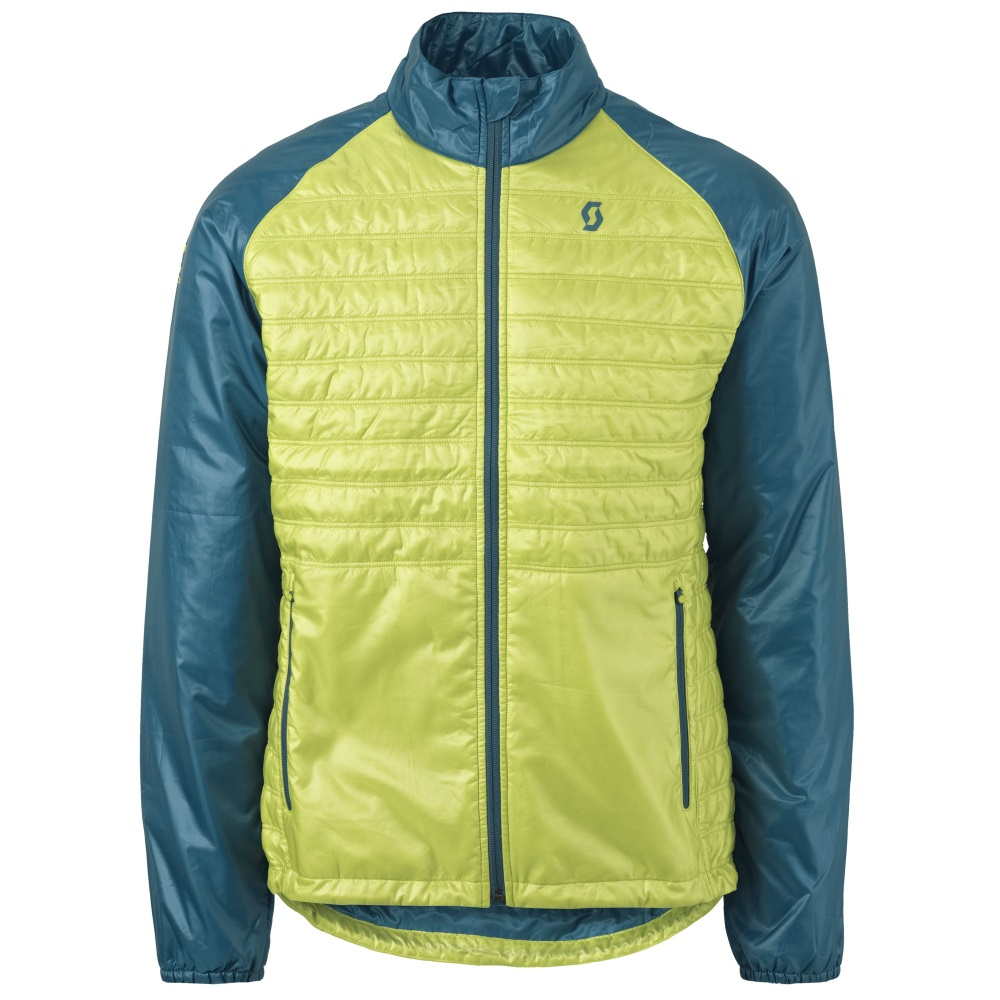 Scott MOTO Insuloft Light ink blue-chartreuse yellow - XL (54-56)