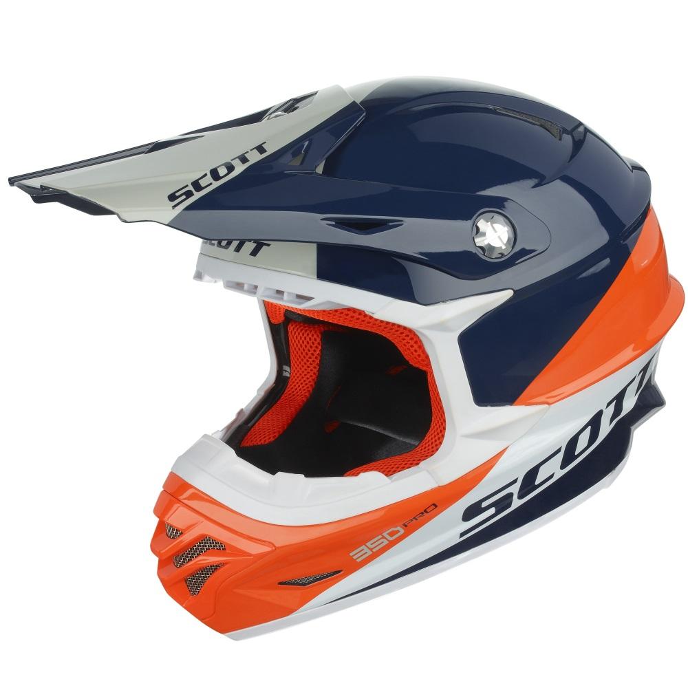 Motokrosová přilba Scott 350 Pro Trophy modro-oranžová - XL (62)